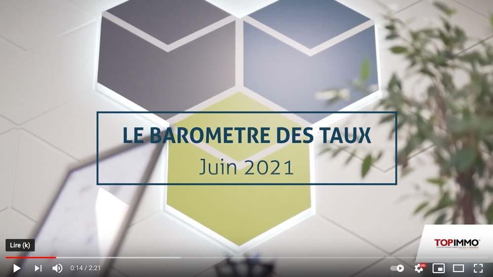 Le baromètre des taux – Juin 2021